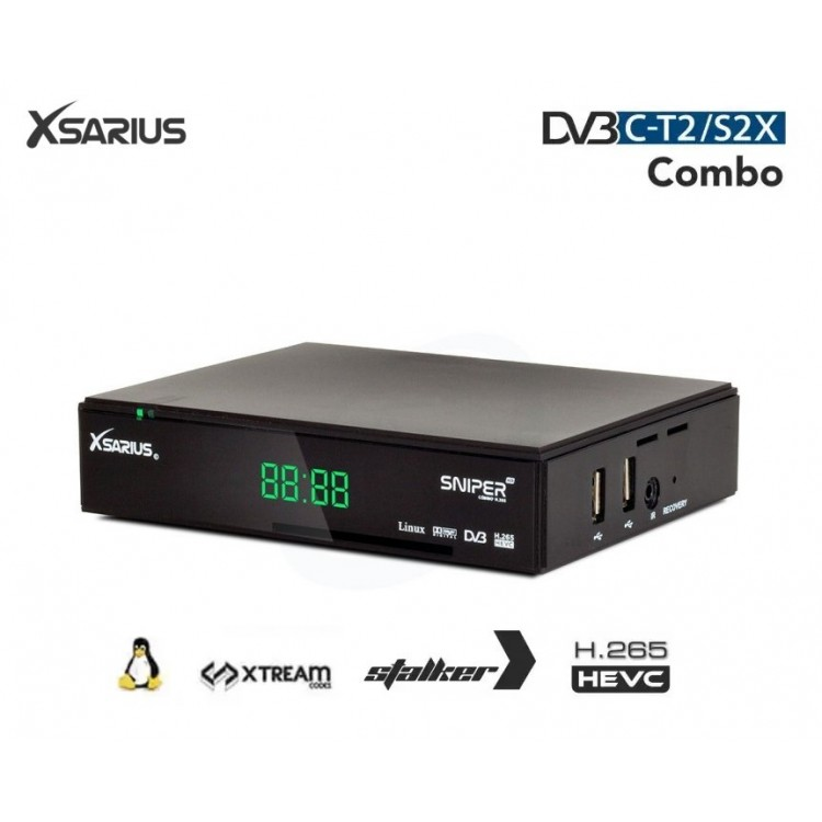 Xsarius Sniper HD+ Combo V2 - H.265