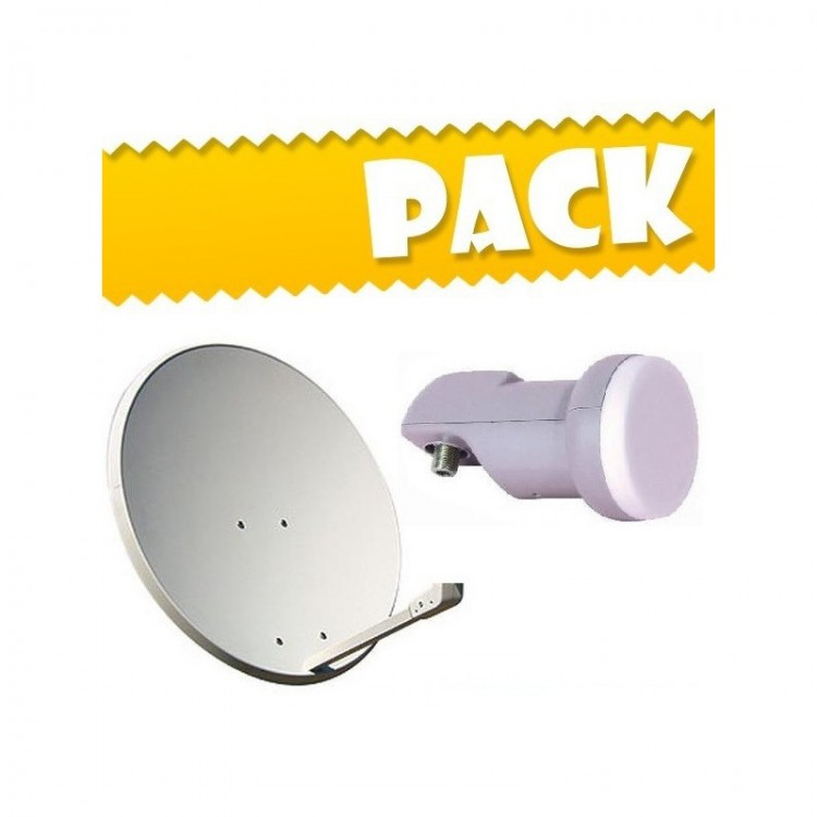 Pack Parabólica 60cm + LNB + Suporte fixação